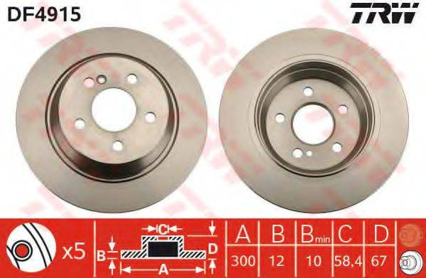 Тормозной диск TRW DF4915