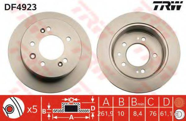 Тормозной диск TRW DF4923