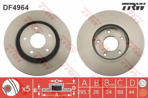 Тормозной диск TRW DF4964