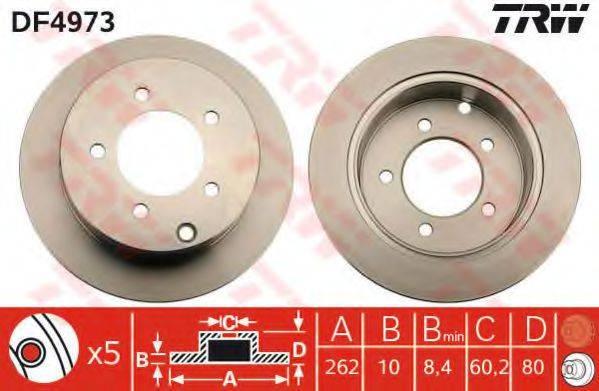 Тормозной диск TRW DF4973