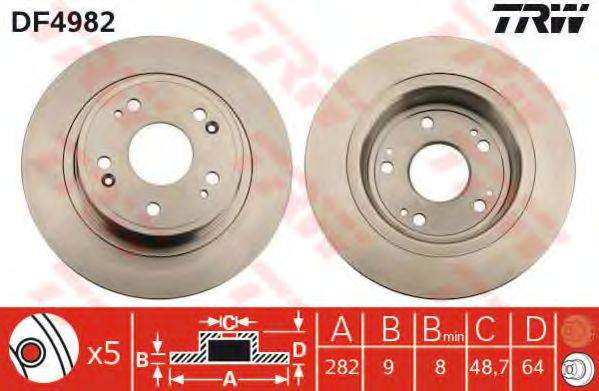 Тормозной диск TRW DF4982