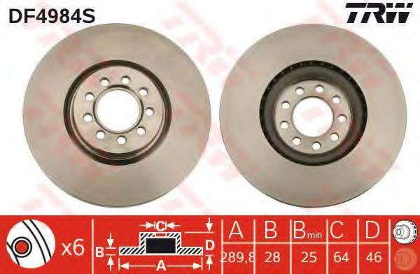 Тормозной диск TRW DF4984S