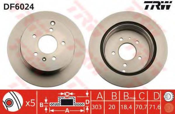 Тормозной диск TRW DF6024