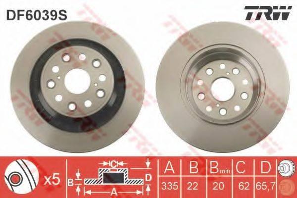 Тормозной диск TRW DF6039S
