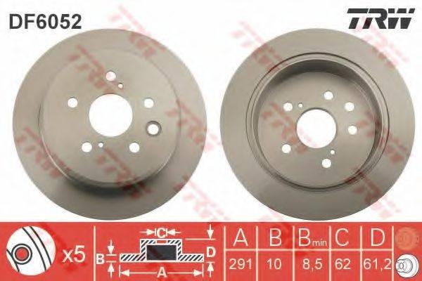 Тормозной диск TRW DF6052