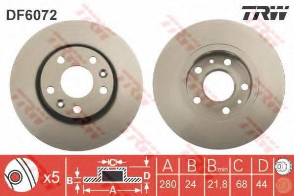 Тормозной диск TRW DF6072