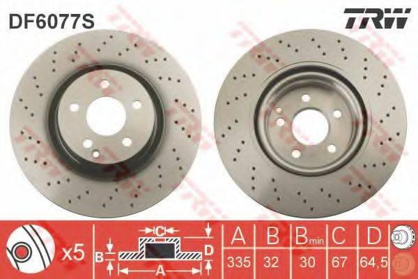 Тормозной диск TRW DF6077S