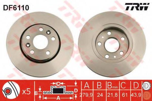 Тормозной диск TRW DF6110