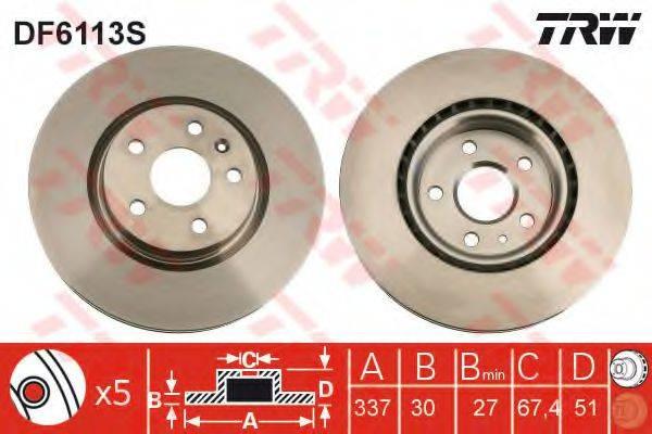 Тормозной диск TRW DF6113S