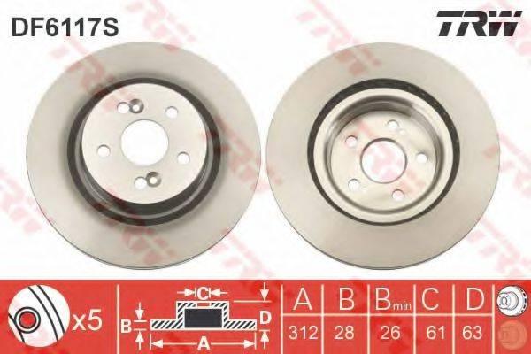 Тормозной диск TRW DF6117S