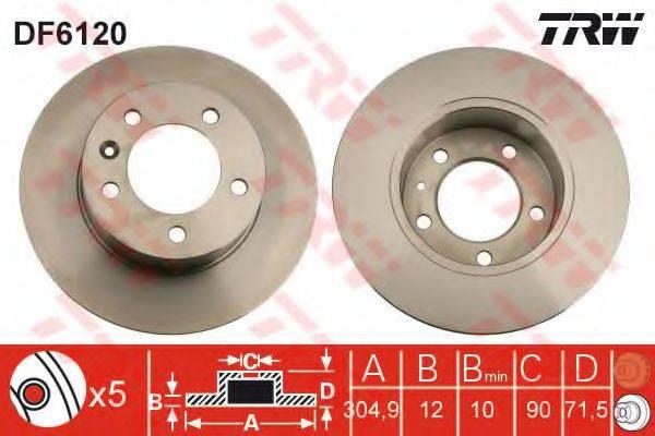 Тормозной диск TRW DF6120