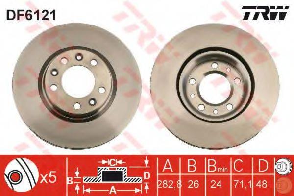 Тормозной диск TRW DF6121
