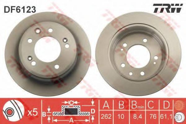 Тормозной диск TRW DF6123