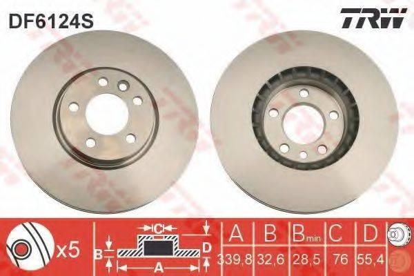 Тормозной диск TRW DF6124S