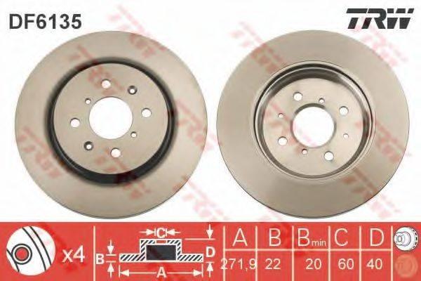 Тормозной диск TRW DF6135