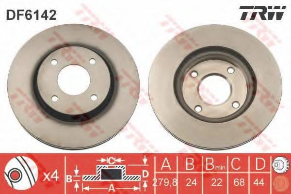 Тормозной диск TRW DF6142