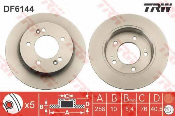 Тормозной диск TRW DF6144
