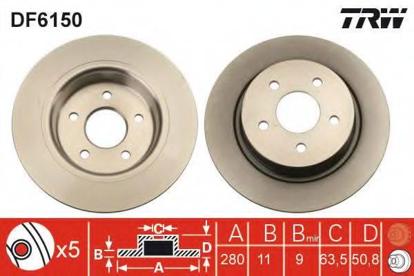 Тормозной диск TRW DF6150