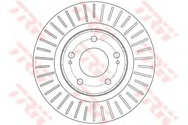 Тормозной диск TRW DF6174