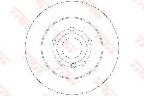 Тормозной диск TRW DF6176