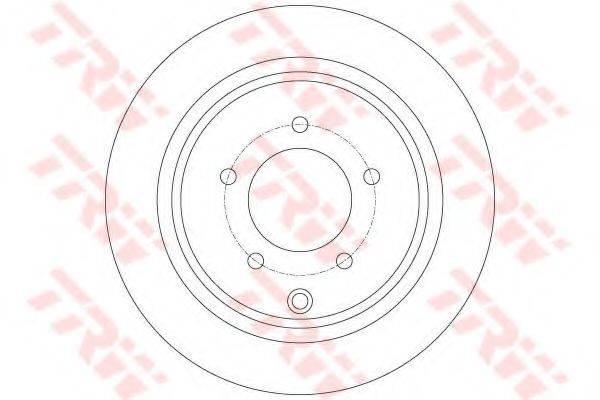 Тормозной диск TRW DF6177