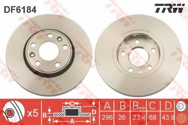 Тормозной диск TRW DF6184