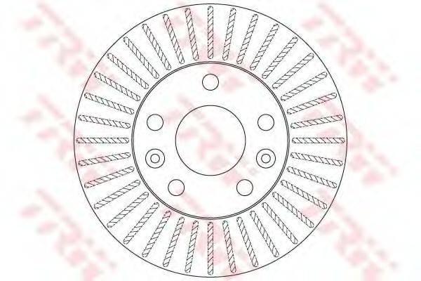 Тормозной диск TRW DF6200
