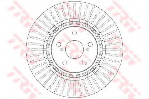 Тормозной диск TRW DF6265