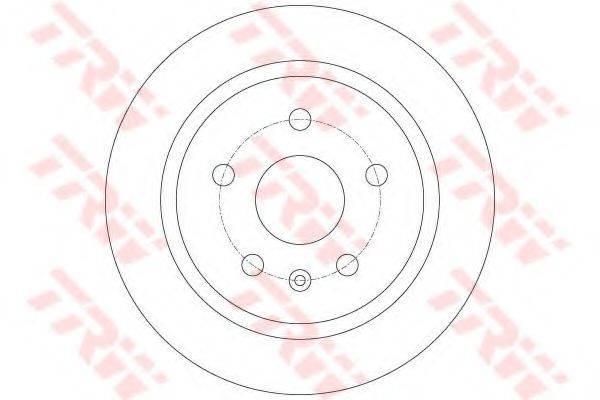 Тормозной диск TRW DF6312
