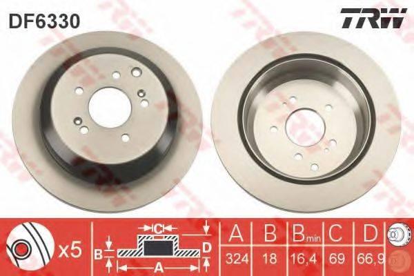 Тормозной диск TRW DF6330