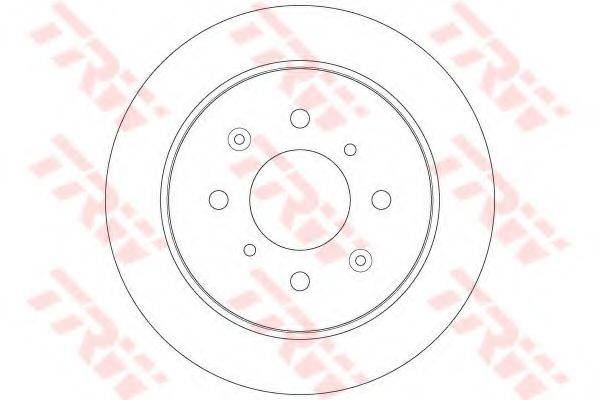 Тормозной диск TRW DF6378