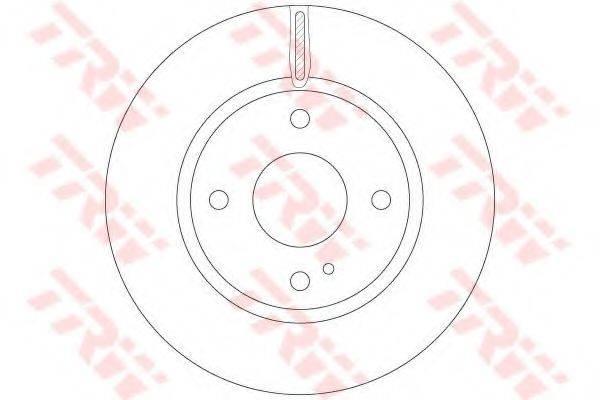 Тормозной диск TRW DF6399