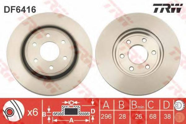 Тормозной диск TRW DF6416