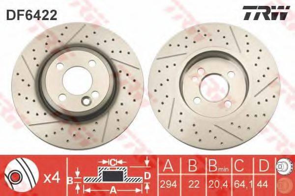 Тормозной диск TRW DF6422
