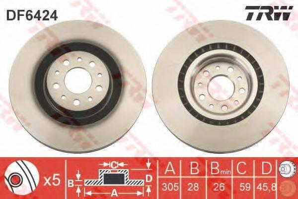 Тормозной диск TRW DF6424