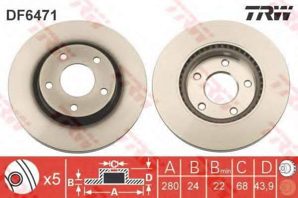 Тормозной диск TRW DF6471