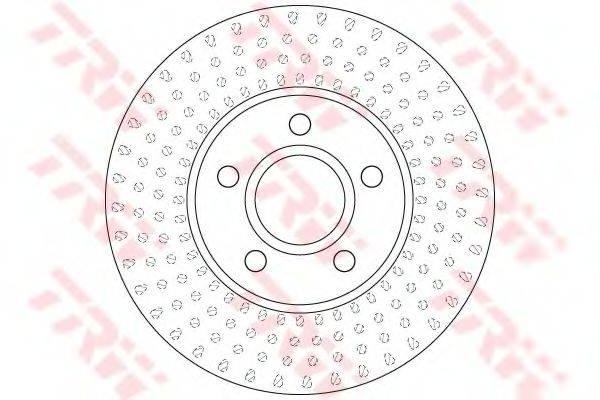 Тормозной диск TRW DF6536