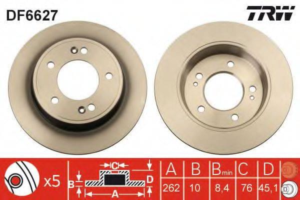 Тормозной диск TRW DF6627
