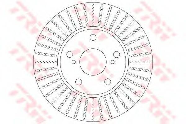 Тормозной диск TRW DF6679
