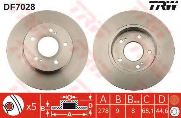 Тормозной диск TRW DF7028