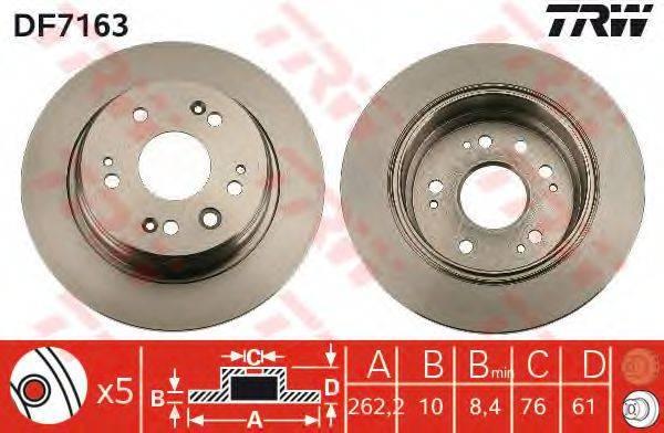 Тормозной диск TRW DF7163