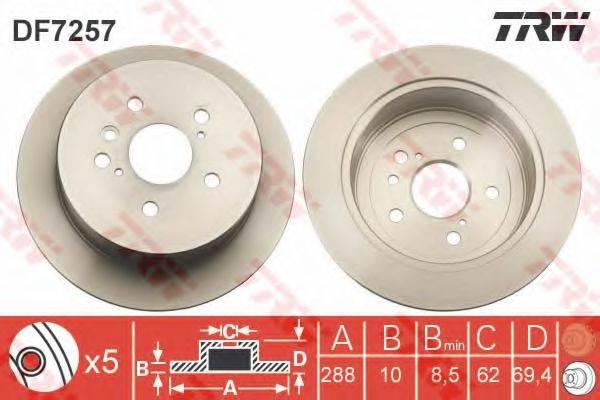 Тормозной диск TRW DF7257