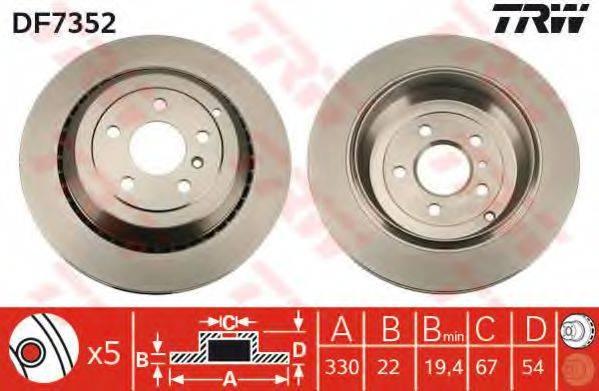 Тормозной диск TRW DF7352