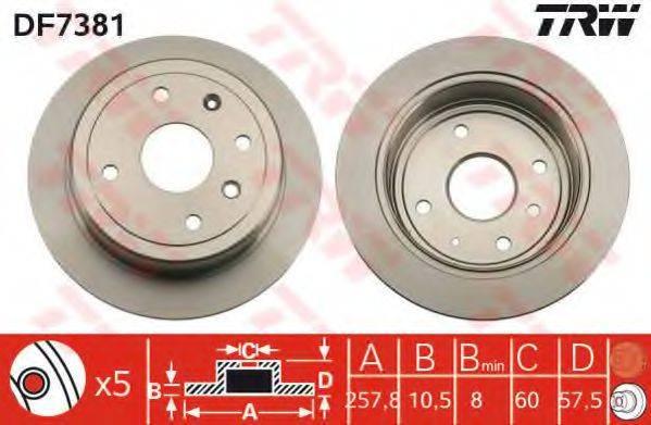 Тормозной диск TRW DF7381