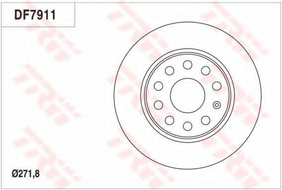 Тормозной диск TRW DF7911
