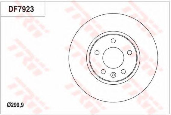 Тормозной диск TRW DF7923