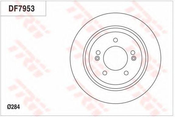 Тормозной диск TRW DF7953