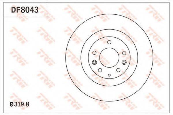 Тормозной диск TRW DF8043