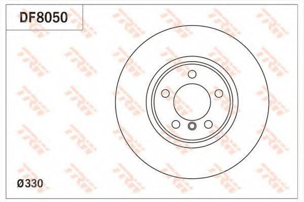 Тормозной диск TRW DF8050