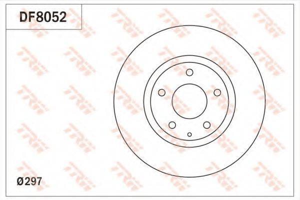 Тормозной диск TRW DF8052